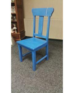Teak stoel Blauw