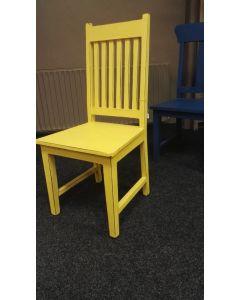 Teak stoel Geel