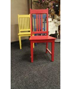 Teak stoel rood