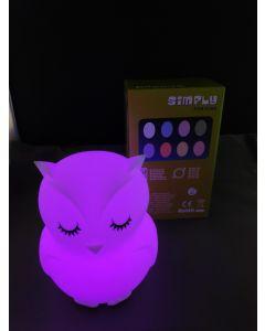 Nacht Lamp Uil met afstandbediening