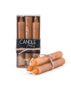 Candle  Doos met 6 dinerkaarsen oker