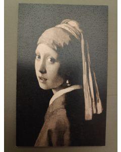 Vintage Kaart Meisje met de parel