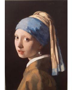 Vintage kaart Meisje met de Parel van Johannes Vermeer