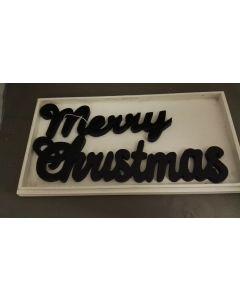 Houten tekst: Merry Christmas    AANBIEDING