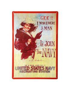 The Navy metalen bord