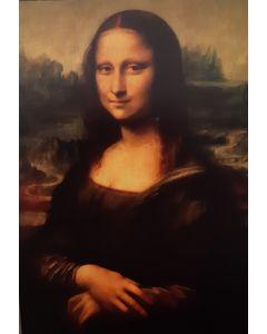 Vintage Kaart Mona Lisa van Leonardo Da Vinci