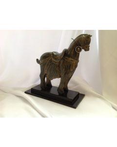Houten paard goud-zwart