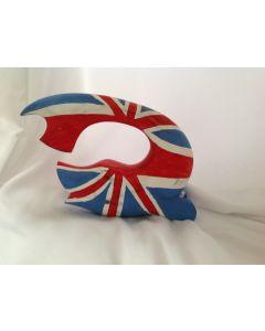 Vis met Engelse vlag