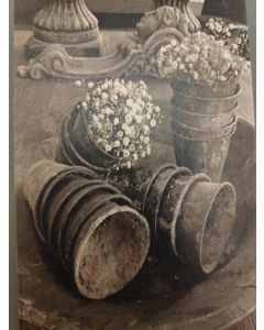 Vintage Kaart oude bloempotten
