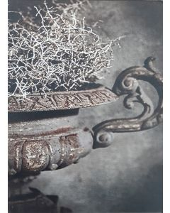 Fiberboard bordje oude schaal