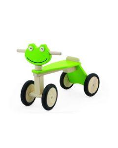 Loopfiets hout Kikker groen