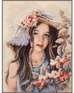Meisje met hoed Diamant Painting