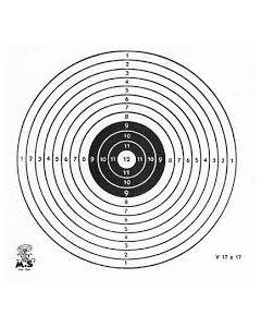Luchtbuks schietkaart 11x11cm