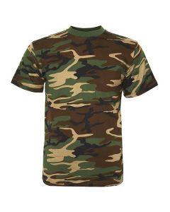 Camouflage shirt korte mouw