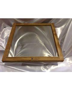 Spiegel massief teakhout 58x58x4 cm