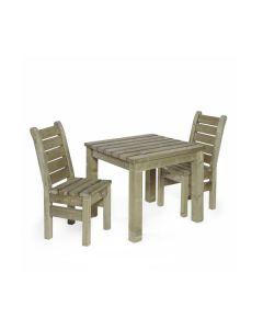 Talen geïmpregneerde tafel Zeist 90x90 cm