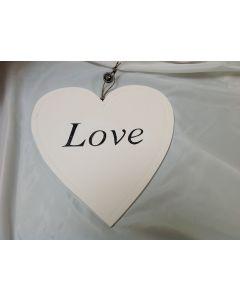 Houten hart 40 cm Love