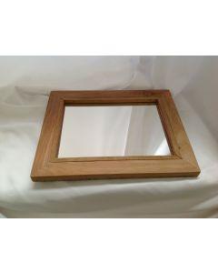Spiegel massief teakhout 37x52x3 cm