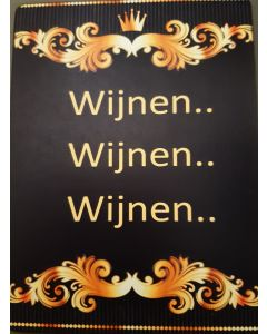 Fiberboard tekstbordjes Wijnen Wijnen Wijnen