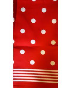 Rode Boerenzakdoek met stippen